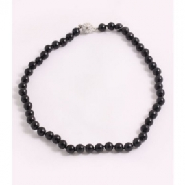 Luxe smalle parelketting (zwart)