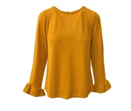 oker gele blouse