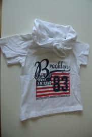 Shirt J. Mirano wit alleen nog maat 92/98