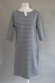 streep jurk wit met blauw     (ALLEEN NOG S en M)