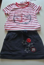rood -wit gestreept shirt Zero jeans