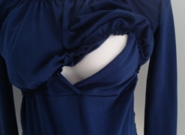 Positie + voedingsshirt Iris donkerblauw (TBAW) (Mt.  XXL)
