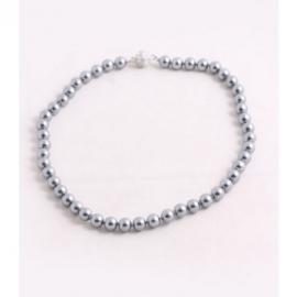 Luxe smalle parelketting (grijs)zilver kleurig