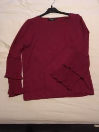 blouse met plisse mouwen