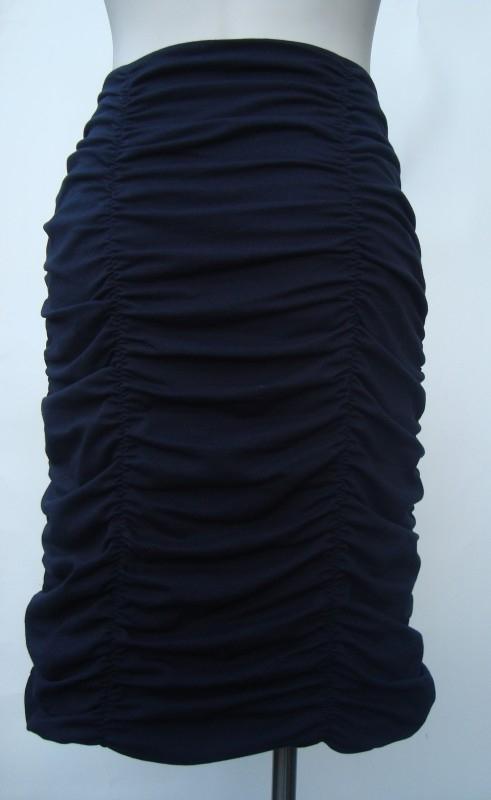 Effen tricot (marine blauw)