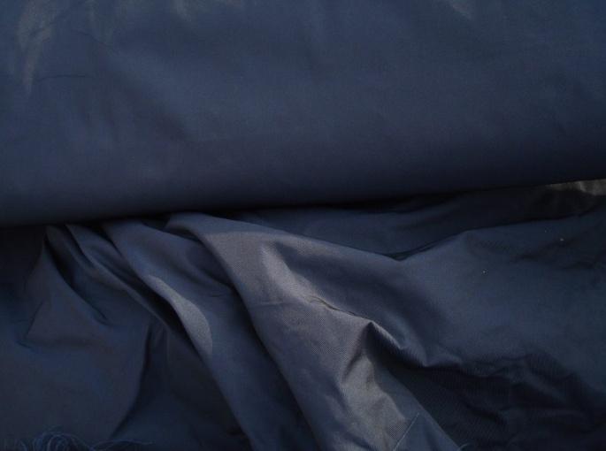Effen donkerblauwe memorystof
