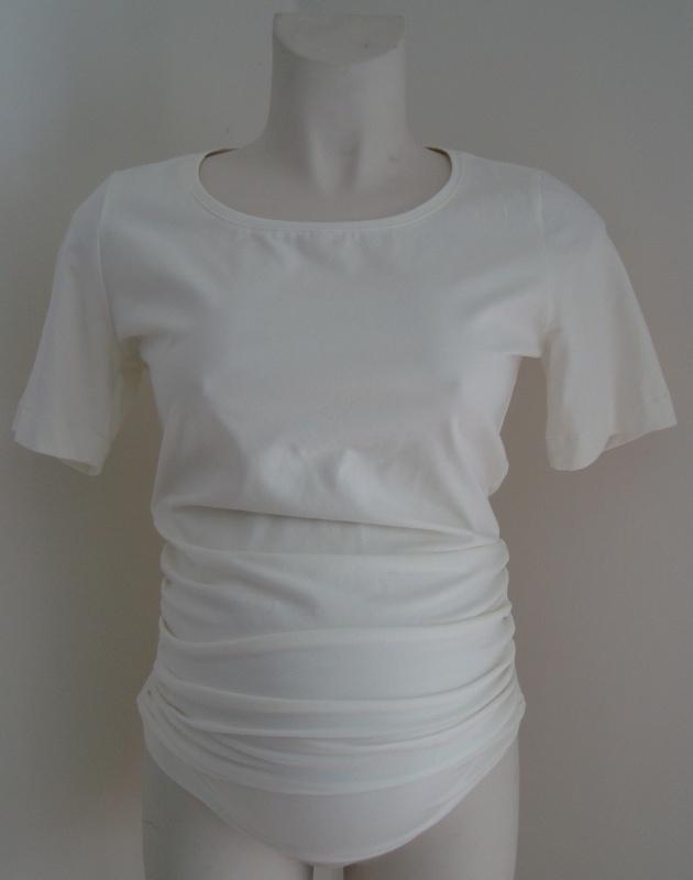 Basisshirt korte mouw (Creme)