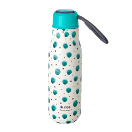 Rice Isolating Drinking Bottle with Watercolor Splash print - RVS