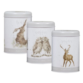 Wrendale Designs Tea, Coffee and Sugar Canisters -grey-