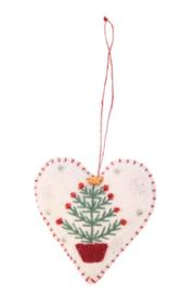 Meander Hart met Kerstboom -vilt-