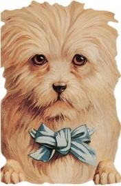 Cadeaukaartje Hond met Blauwe Strik