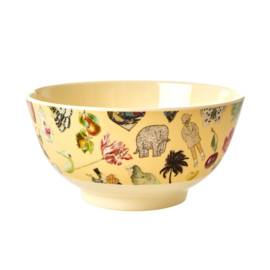 Rice Medium Melamine Bowl - Creme Art Print