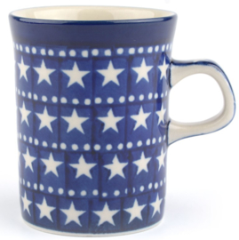 Bunzlau Straight Mug 250 ml Blue Stars
