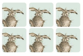 Wrendale Designs Set of 6 Hare Coasters