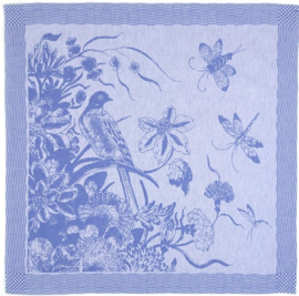 Bunzlau Tea Towel Delfs Blue Bird Royal Blue