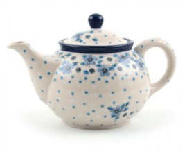 Bunzlau Teapot 0,9 l Blue White Love