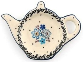 Bunzlau Teabag Dish Teapot 10 cm Springtime
