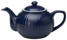 GreenGate Teapot Alice dark blue -stoneware-