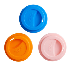 Rice Silicone Lid for Melamine Medium & Tall Cup in Orange, Blue or Soft Pink
