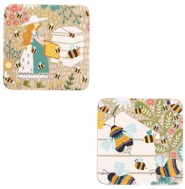 Ulster Weavers Coasters Bee Keeper - set of 4-
