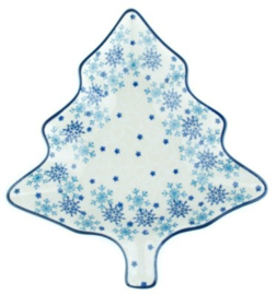 Bunzlau Tree Shaped Dish Christmas Stars