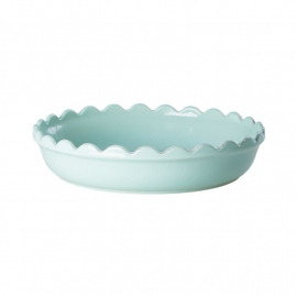 Rice Small Stoneware Pie Dish in Mint