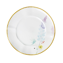 Rice Porcelain Lunch Plate - Blue Lupin Print - Special Edition