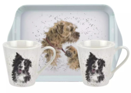 Wrendale Designs Dogs Mug & Tray set -aanbieding-