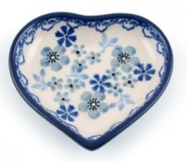 Bunzlau Heart Shape Teabag Dish Harmony