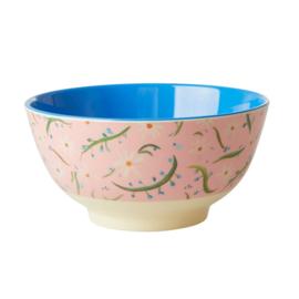 Rice Medium Melamine Bowl - Delightful Daisies Print