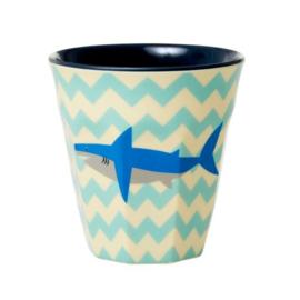 Rice Medium Melamine Cup - Shark Print