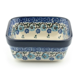 Bunzlau Square Bowl Medium 10x10 cm Royal Blue
