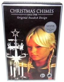 Christmas Chimes -Rendieren- Original Swedish Design -zilverkleurig-