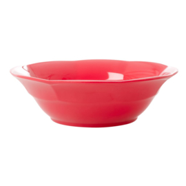 Rice Melamine Soup Bowl in Red Kiss