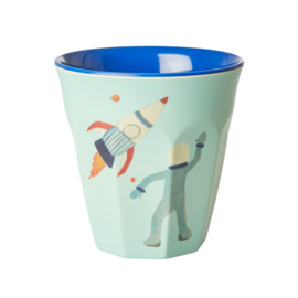 Rice Medium Melamine Cup with Space Print