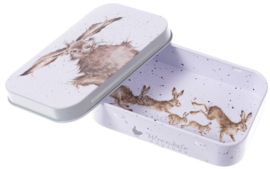 Wrendale Designs 'Hare-Brained' mini gift tin
