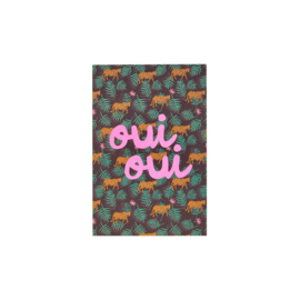 Rice Post Card Wild Leopard Print 'Oui Oui'