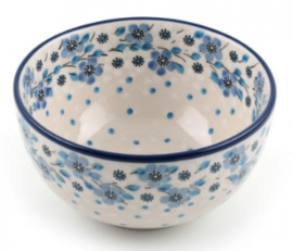 Bunzlau Rice Bowl 14 cm Blue White Love