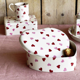 Emma Bridgewater Pink Hearts Large Heart Shaped Tin