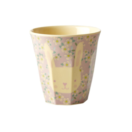 Rice Melamine Kids Cup with Bunny Print - Small