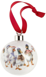 Wrendale Designs 'All Wrapped Up' Christmas Bauble