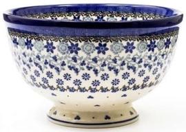 Bunzlau Bowl on Foot Large 25,5 cm Belle Fleur