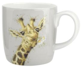 Wrendale Designs Large 'Flowers' Mug -licht grijze achtergrond-