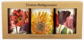 Emma Bridgewater Flowers set of 3 Caddy Tins