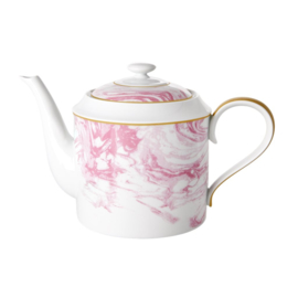 Rice Porcelain Teapot - Marble Print - 1280 ml -