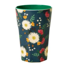 Rice Tall Melamine Cup - Wedding Bouquet Print