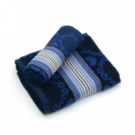 Bunzlau Tea Towel Lace Dark Blue