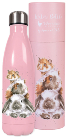 Wrendale Designs 'Piggy in the Middle' Water Bottle 500 ml