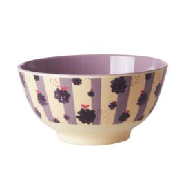 Rice Medium Melamine Bowl - Blackberry Beauty Print