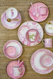 Rice Porcelain Saucer in Peach - Everyday Magic